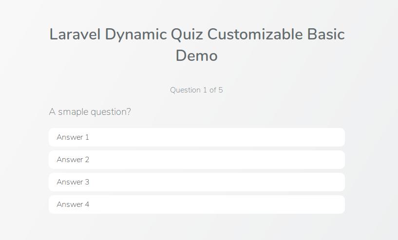 Laravel Dynamic Quiz Demo image