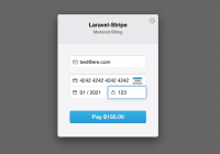 Laravel stripe metered billing payment method