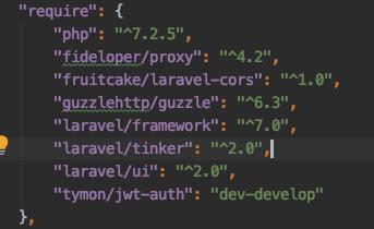 Laravel + VueJS - Build a login and register web app - composer.json file