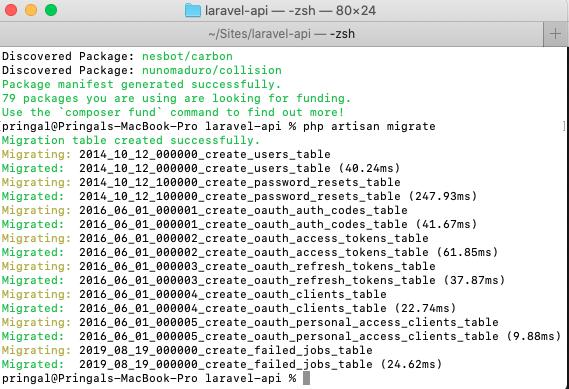 Laravel 8 Migration table