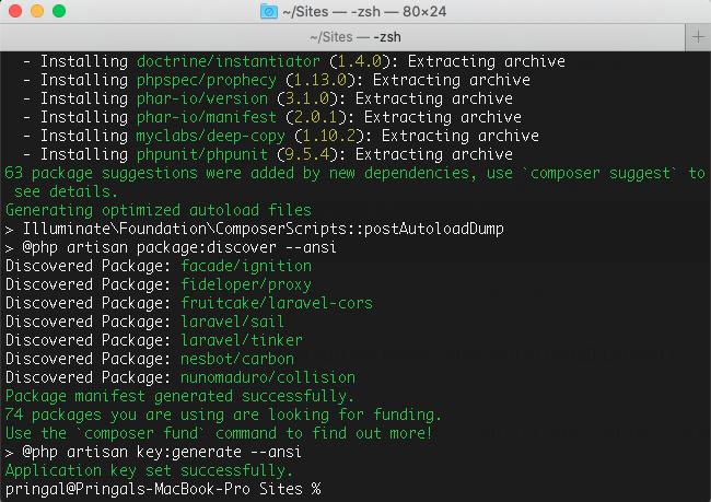 Laravel 8 installation process